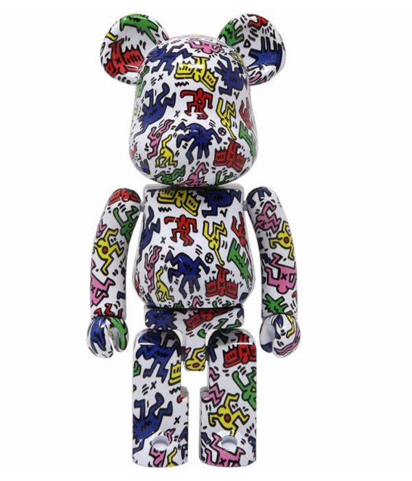 Medicom x Keith Haring - 200% Bearbrick Super Alloyed Metal Figure