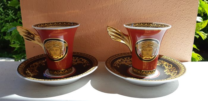 Versace - Rosenthal - Cups and saucers (2) - Porcelain