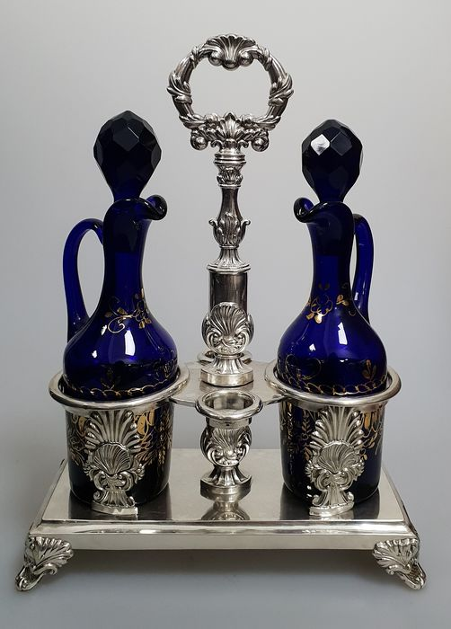 Cruet stand - .950 silver - France - First half 19th century