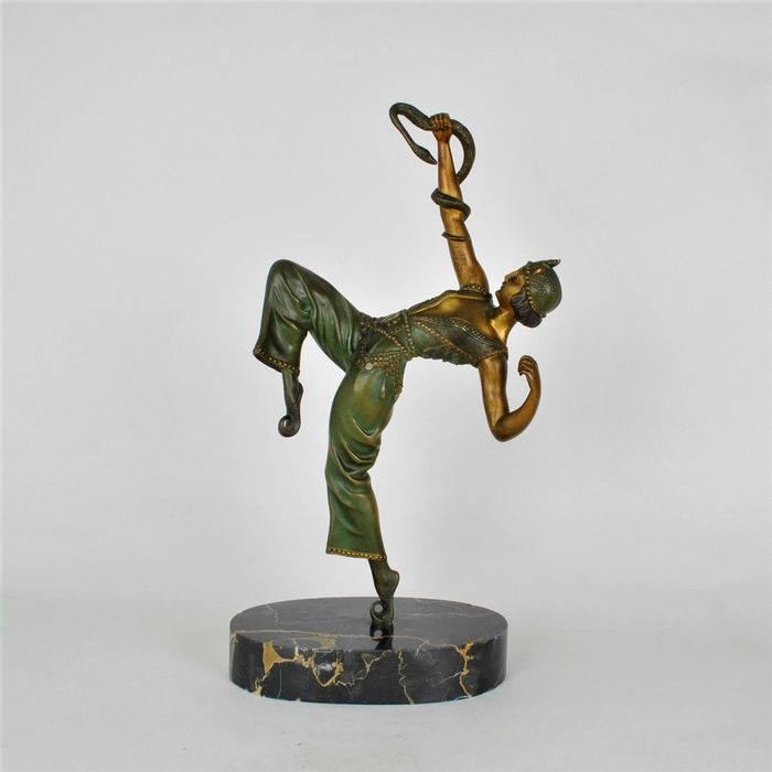 Samuel Lipchytz (1880-1943) - Danseuse au serpent - Sculpture
