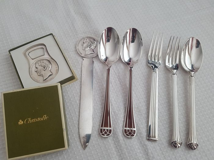 Lot - Silver plated - CHRISTOFLE et autres - France - late eighteenth century to today