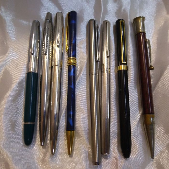 Aurora,.Parker,Diplomat,Montegrappa,Lalex,Morton, - fountain pen / sphere / mechanical pencil - Batch mixed fountain pen/ball/Mechanical Pencil of 8