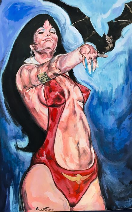 Ruttum - Acrylic Painting - Tribute to Pepe Gonzalez - 50 Years of Vampirella - Original Art - (2019)