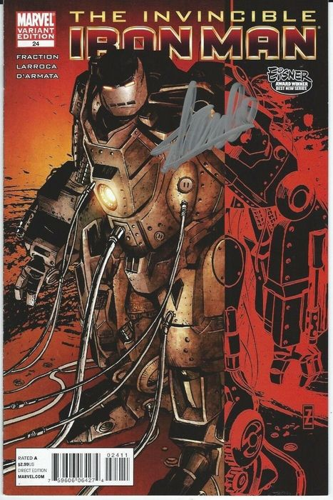 Marvels - Invincible Iron Man #24  signed by Stan Lee - Variant (2011)
