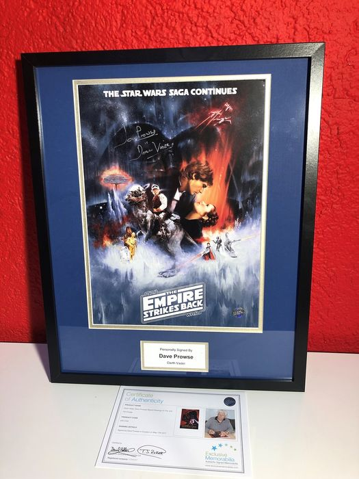 Star Wars - David Prowse - Autograph, Photo Framed