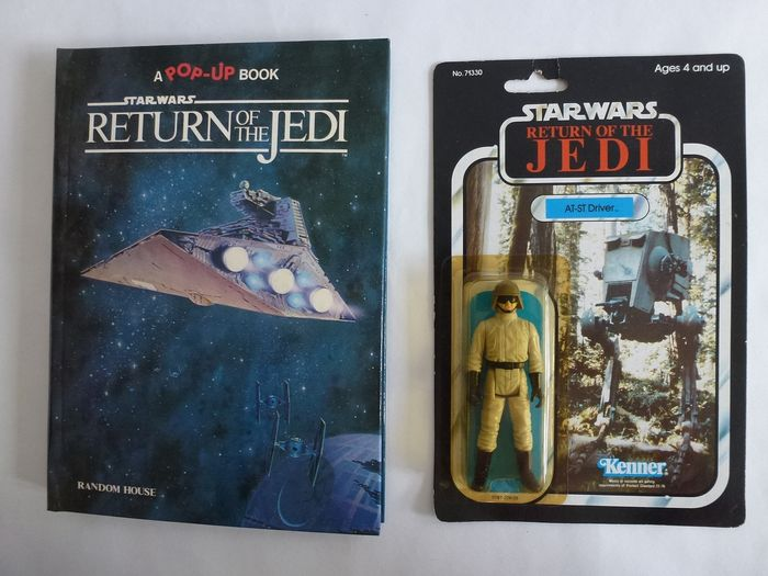 Star Wars - Return of the Jedi - 1x AT-ST Driver (Kenner)  - 1x pop-up Book