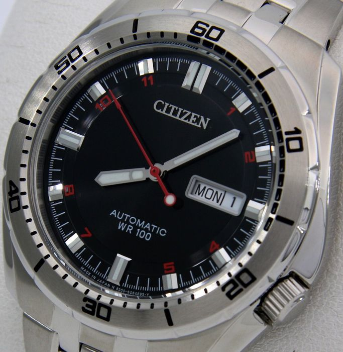 "Citizen - Automatic ""Sport Black Dial"" -""NO RESERVE PRICE"" - Men - 2011-present"
