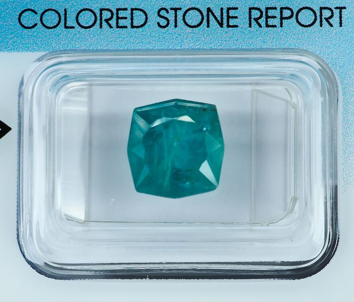 * No Reserve * Deep Greenish Blue Grandidierite - 3.01 ct