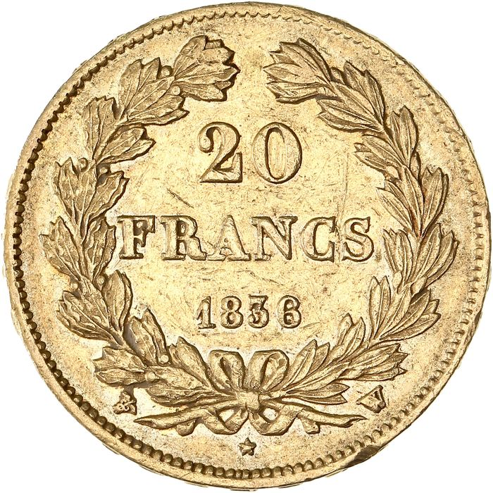 20 Francs 1836-W Louis Philippe I - Or