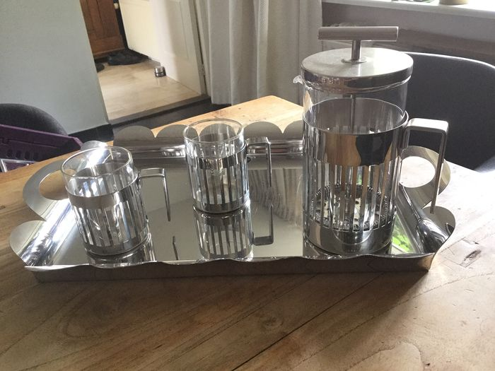Alessi coffee set (4) - stainless steel