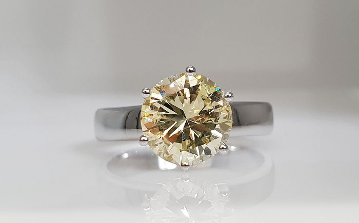 14 kt. White gold - Ring - Clarity enhanced 2.37 ct Diamond