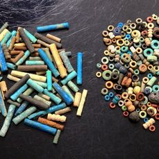 Ancient Egyptian Faience & Hard Stone Beads - 2mm-20mm  - (300)