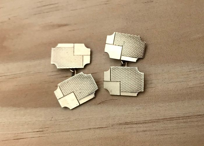 Vermilion silver punched - Cufflinks