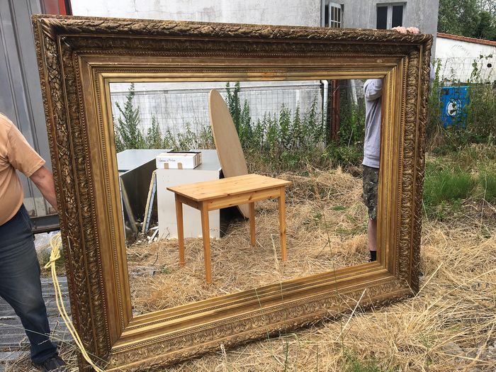 Gilded wooden frame - Neoclassical - Wood - mid 19th century
