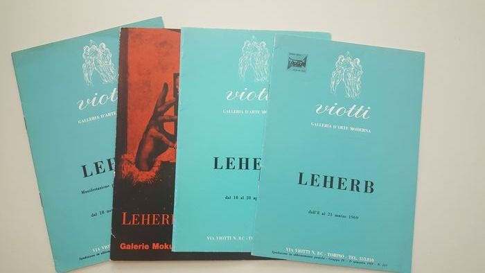 Leherb - lot with 4 catalogues - 1965/1972