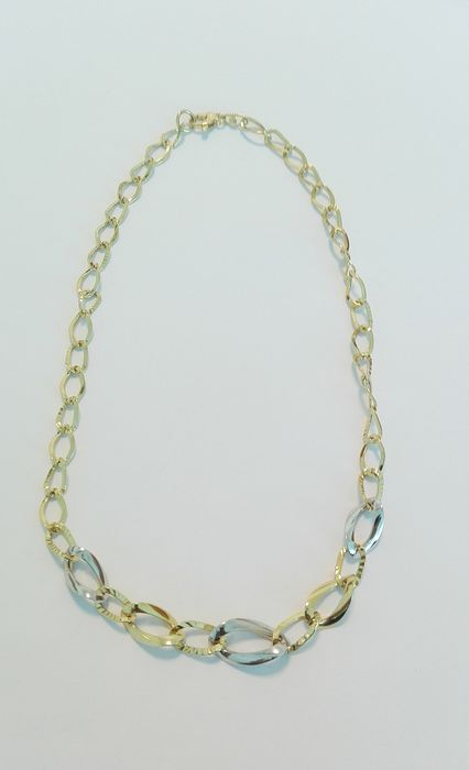 18 kt. Bicolour - Necklace, Gold White Yellow Gold