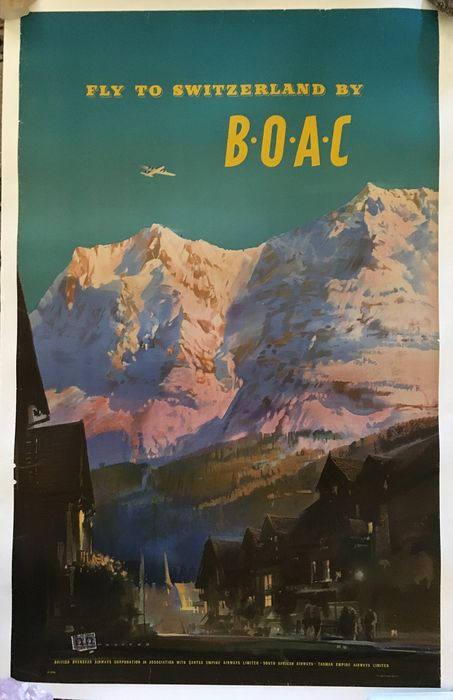 Frank Woothon  - BOAC Svizzera / Switzerland British Overseas Airways Corporation - 1951 - 1950s
