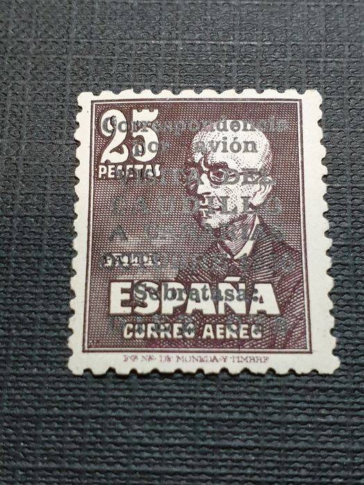 Spain 1951 - 'Visita del Caudillo a Canarias' (Visit of Franco to the Canary Islands) with control number. - Edifil 1090