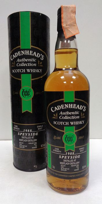 Mortlach 1988 13 years old Authentic Collection - Cadenhead's - 70cl