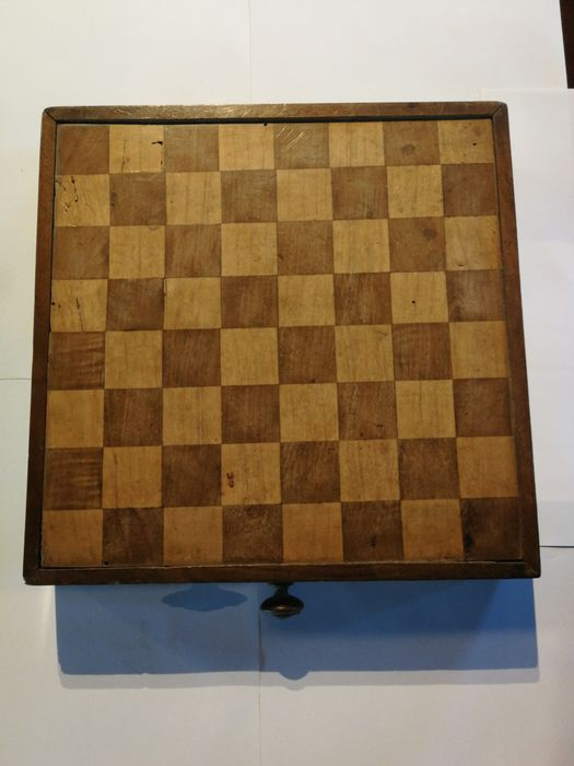 Ancient chessboard checker (1) - Wood - Late nineteenth century began XX