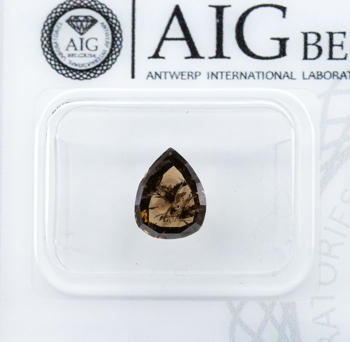 Diamond - 1.50 ct - Natural Fancy Brown - I1  *NO RESERVE*