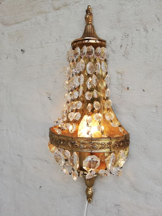 Wall light - Copper, Crystal