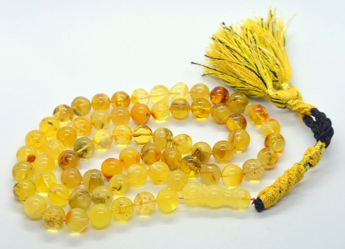 Amber Round beads pray necklace (1) - Amber