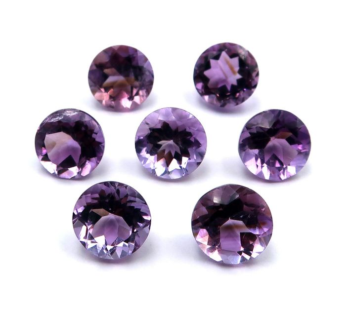 7 pcs  Amethyst - 23.50 ct