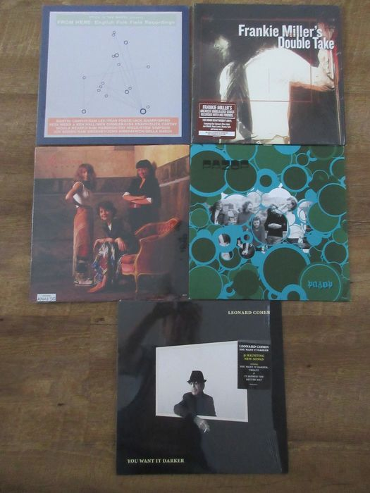 Various Artists/Bands in Folk & Singer-Songwriter - 5 LP lot Folk Pazop - Roches - Leonard Cohen - Frankie Miller - Sampler - LP's - 1989/2016