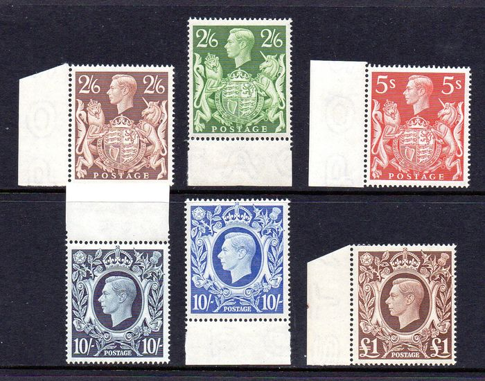 Groot-Brittannië 1939/1948 - KGVI Arms Series Complete Set with Margins  - Stanley Gibbons SG476-SG478c