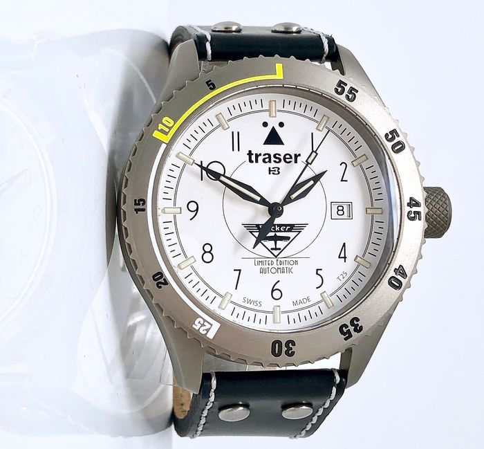 "Traser - H3 Bücker Automatic Titanium Watch LIMITED EDITION - 100207 ""NO RESERVE PRICE"" - Herren - Brand New"