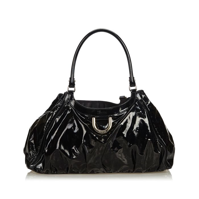Gucci - Patent Leather Abbey D-Ring Shoulder Bag Schoudertas