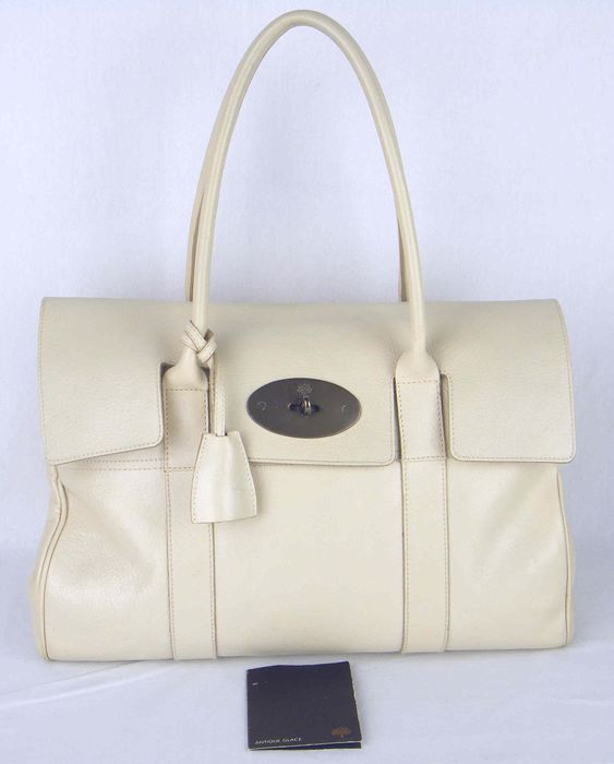 Mulberry - Ivory Leather  Bayswater Bag