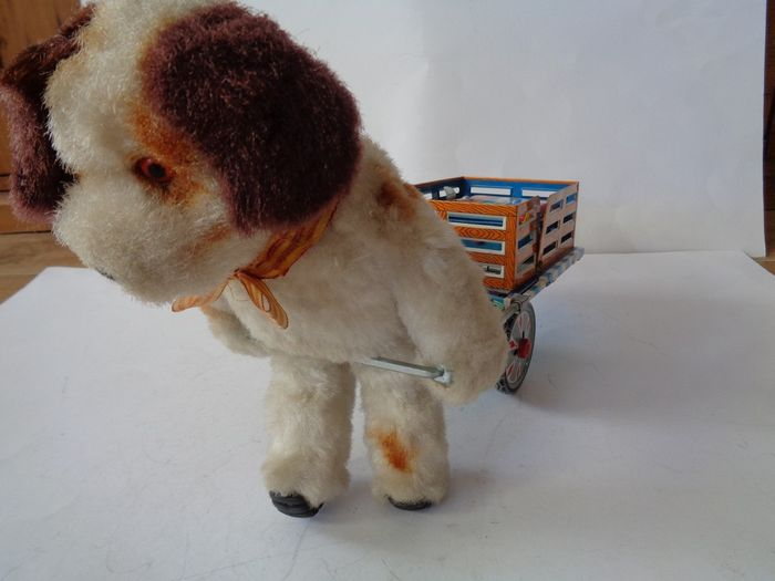 Alps - Vintage - Battery Toy Dog with Luggage Kart  - 1960-1969 - Japan