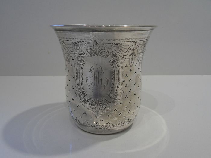 Cup, Great timbale (1) - .950 silver - Charles Templier - France - Late 19th century