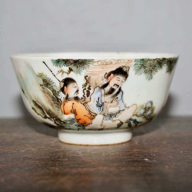 bowl (1) - Porcelain - characters - China - Republic period (1912-1949)