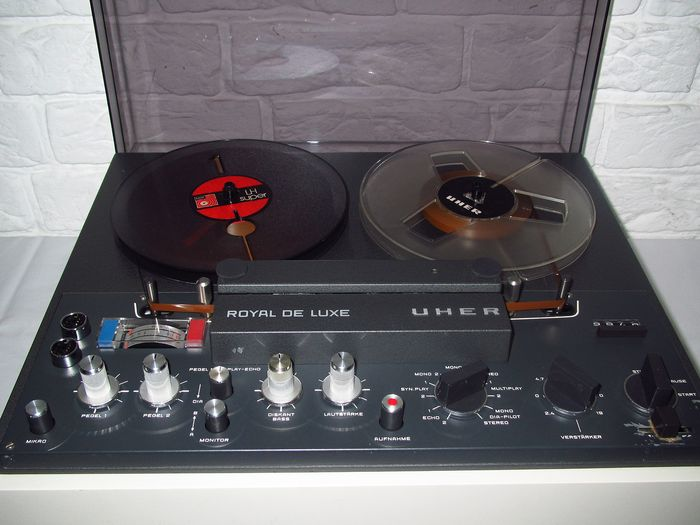 Uher Royal De Luxe In Witte Kast Tape Recorder With