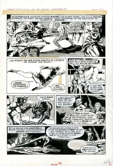 Vampirella - Scourge of the Dragon Queen (Part IV) page 6 - First edition (1981)