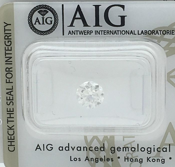 Diamond - 1.00 ct - Brilliant, Round - F - SI2