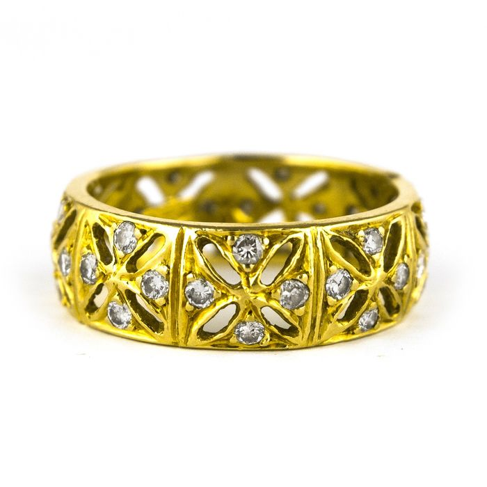 Antique - 18 kt. Yellow gold - Ring Diamond