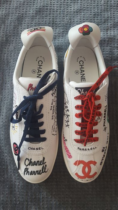 Chanel - Chanel x Pharrell Capsule Collection Graffiti Sneakers Sneakers