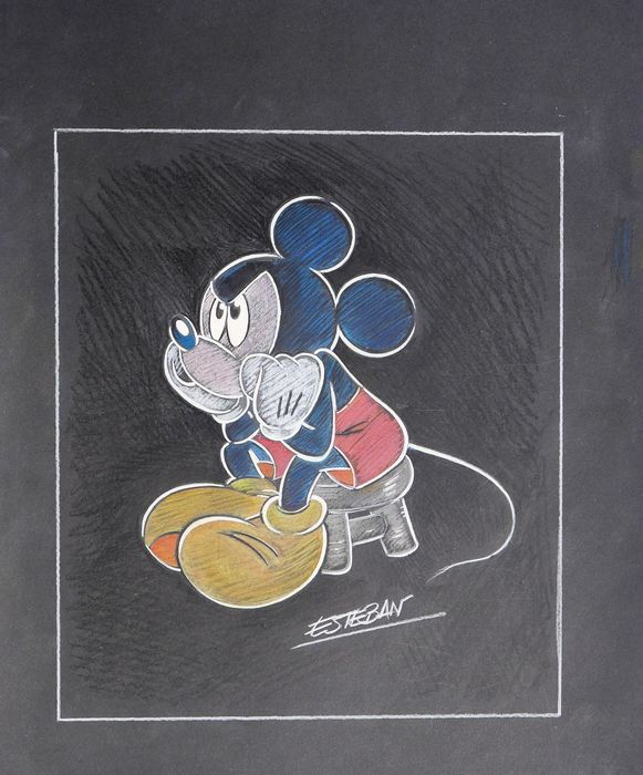 Mickey Mouse - Original Drawing - Esteban - First edition