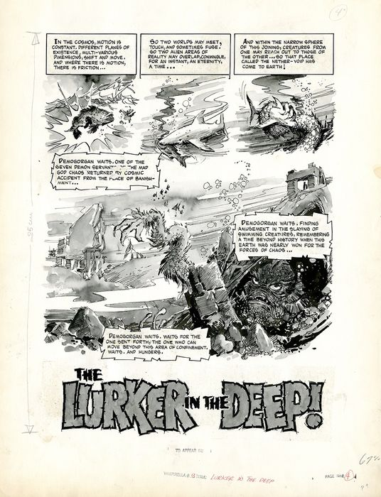 Vampirella n.13 page 4 - The Lurker in the Deep!  - First edition (1971)
