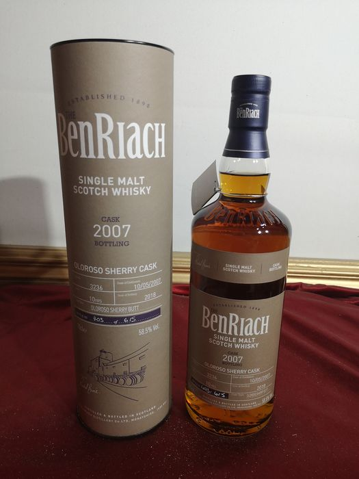 Benriach 2007 10 years old olorosso sherry cask  - b. 2018 - 0.7 Ltr