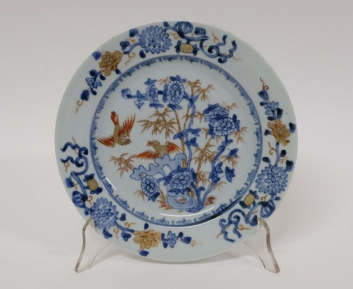 18th century antique Chinese porcelain plate plate. - Porcelain - Fauna and Flora - China - 18th century