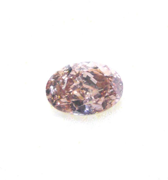 1 pcs Diamond - 0.20 ct - Oval - fancy brown pink - I1, ***no reserve***