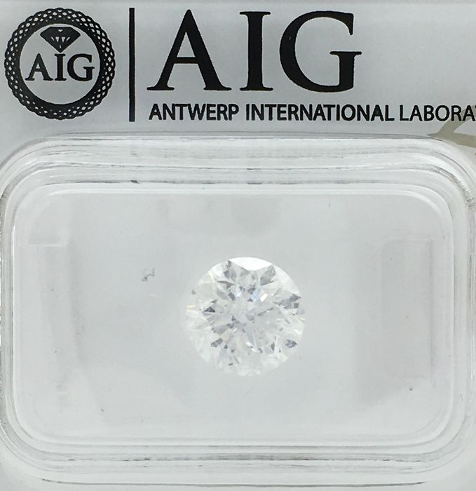 Diamond - 1.52 ct - Brilliant, Round - F - SI3
