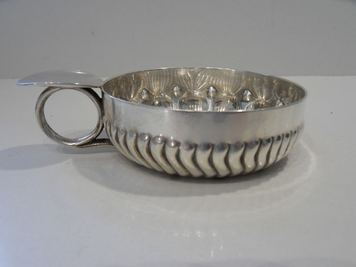 Tastevin, Large and heavy wine taste in sterling silver (1) - .950 silver - Jules De Louvencourt - France - Late 19th century