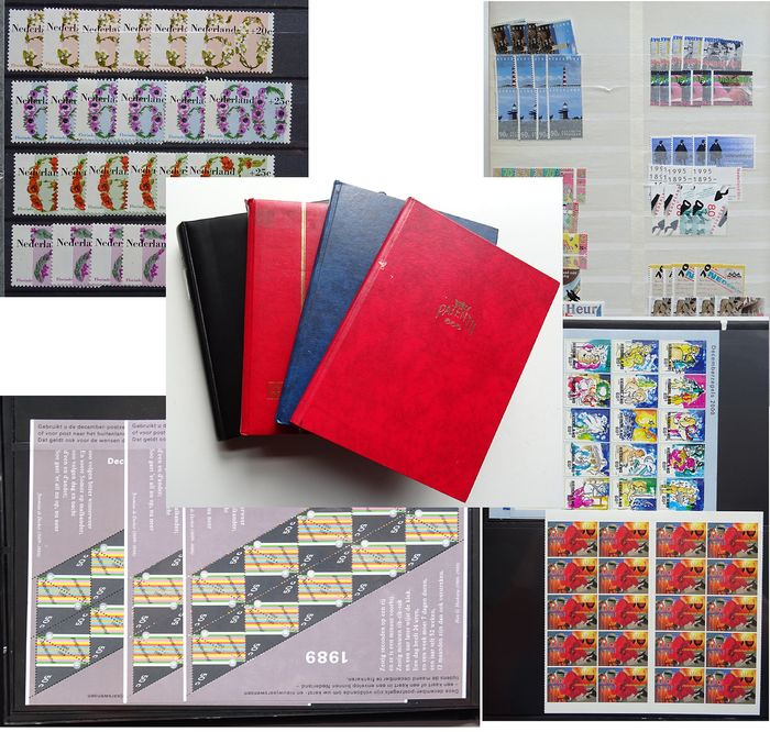 Netherlands 1940/2001 - Batch in 4 books, stamps, blocks and sheets.