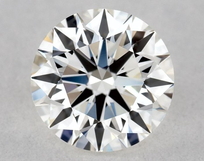 1 pcs Diamant - 0.51 ct - Brillant, Rond - F - VVS1, Excellent Cut & Polish